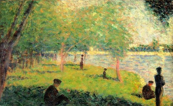 Art Poster featuring the painting Study On La Grande Jatte by Georges Seurat