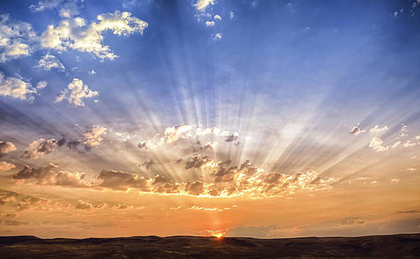 Sun Rays Poster featuring the photograph Sun Beams by Colby Drake