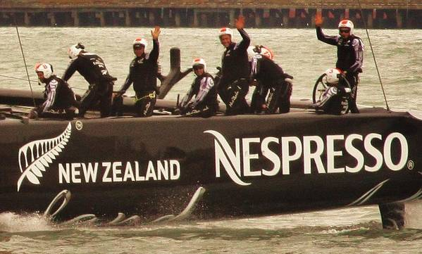 America's Cup Poster featuring the photograph Team New Zealand by Steven Holloway