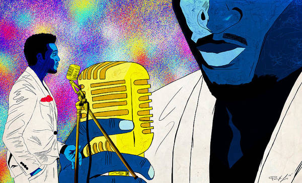 Art Of Soul Music Poster featuring the digital art The Soul Singer by Kenal Louis