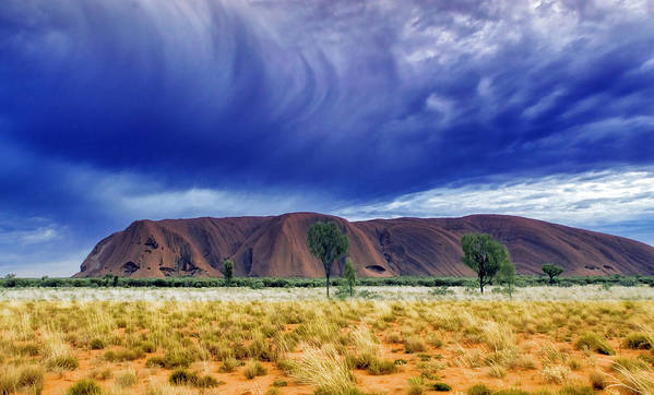 Landscapes Poster featuring the photograph Thunder Rock by Holly Kempe