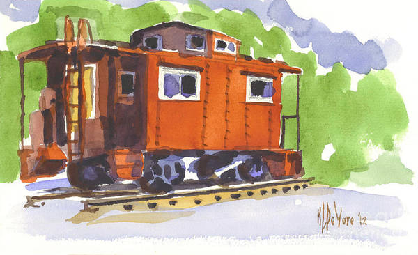 Toot Toot Poster featuring the painting Toot Toot by Kip DeVore