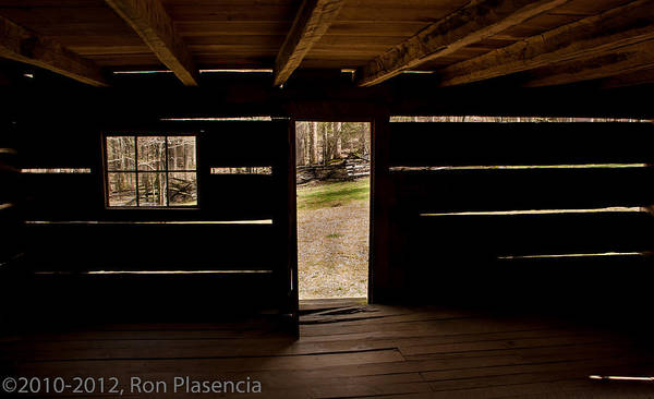 Log Cabin Poster featuring the photograph Doorway To The Past by Ron Plasencia