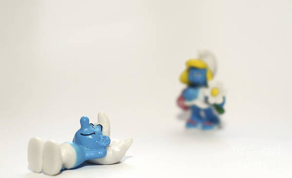 Smurf Poster featuring the photograph Smurf Figurines by Amir Paz