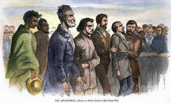 Abolition Poster featuring the photograph John Brown (1800-1859) by Granger