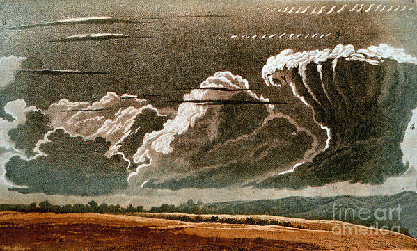 Science Poster featuring the photograph German Cloud Atlas, 1819 by Science Source