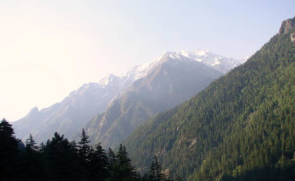 Splendors Of Himalayas---photography Portraits Poster featuring the photograph Splendors Of Himalayas by Anand Swaroop Manchiraju