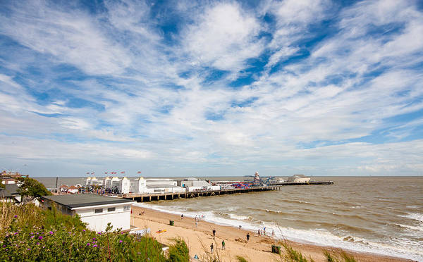 Beach Poster featuring the photograph Clacton Pier by Dawn OConnor