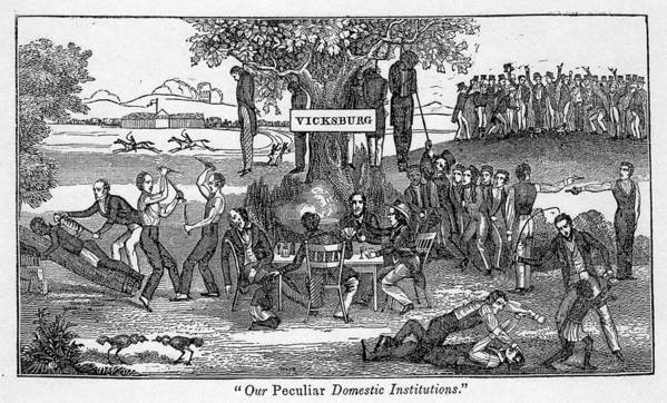 History Poster featuring the photograph Abolitionist Cartoon Entitled, Our by Everett