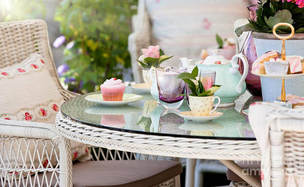 Dining Poster featuring the photograph Afternoon Tea And Cakes by Simon Bratt Photography LRPS