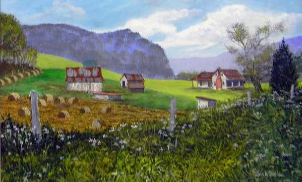 Landscape Poster featuring the painting Back Roads Beauty Sold by Jack Bolin