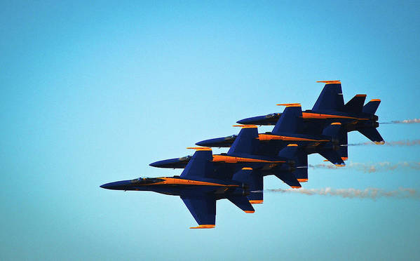Blue Angels Poster featuring the photograph Blues Angel Planes 1-4 by Ken Naylor