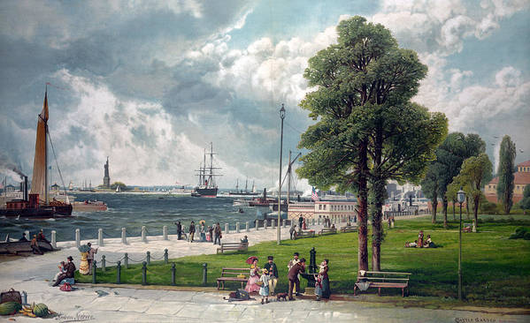 1880s Poster featuring the photograph Castle Garden, New York, Showing by Everett