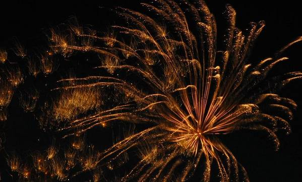Fireworks Poster featuring the photograph Fiery by Rhonda Barrett