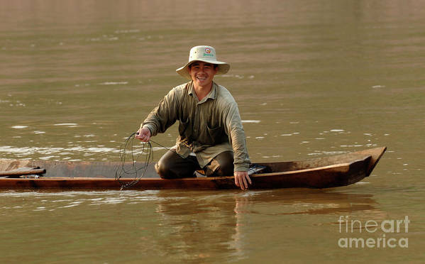 Mekong Poster featuring the photograph Happy To See You by Bob Christopher