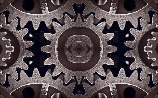 Gear Poster featuring the photograph Mirror Gears by Steve Gadomski