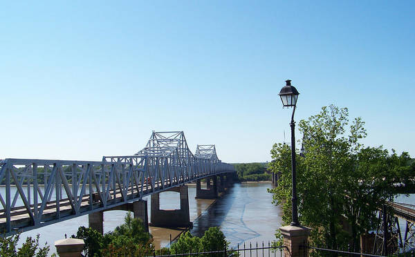 Bridge Poster featuring the photograph Mississippi River Bridge by Judy Grindle Shook