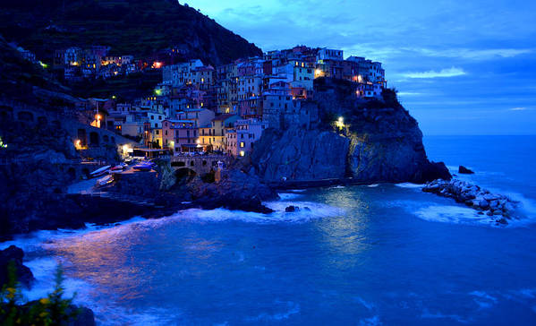 Manarola Poster featuring the photograph Morning In Manarola by Barbara Walsh