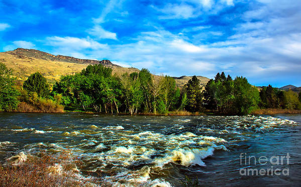 Idaho Poster featuring the photograph Raging River by Robert Bales