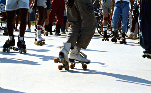 1970s Poster featuring the photograph Roller Skates by Emanuel Tanjala