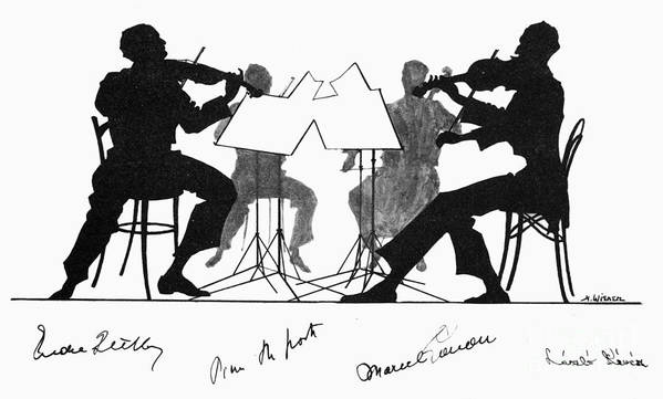 1935 Poster featuring the photograph String Quartet, C1935 by Granger