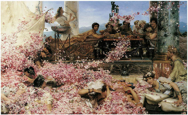 Lawrence Alma-tadema Poster featuring the painting The Roses Of Heliogabalus by Lawrence Alma-Tadema