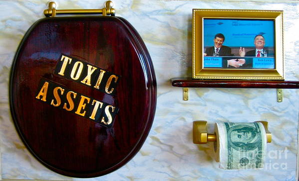 Business Poster featuring the painting Toxic Assets by Dawn Graham