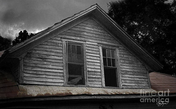 Farm House Poster featuring the photograph Windows In The Soul by Cris Hayes