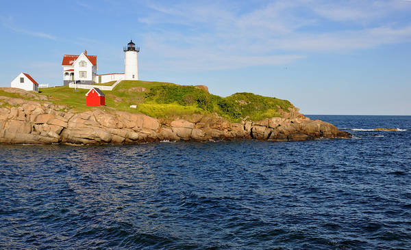 Lighthouse Poster featuring the photograph York's Nubble Light by Amy Warnke
