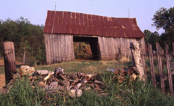 Poster featuring the photograph Lloyd Shanks Barn 4 by Curtis J Neeley Jr