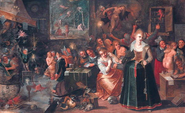 17th Century Art Poster featuring the painting The Witches' Sabbath by Frans Francken the Younger