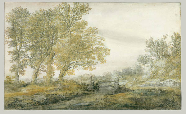 Landscape With Trees Poster featuring the painting Landscape With Trees by Aelbert Cuyp