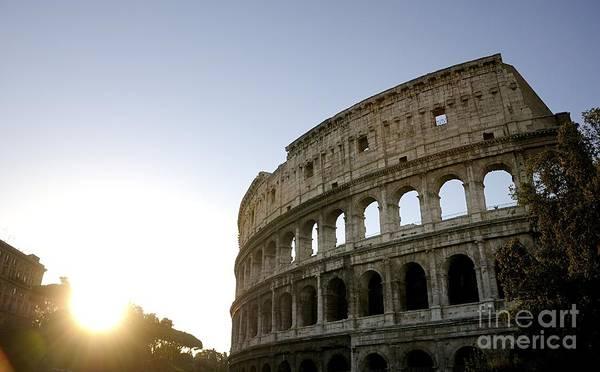 Amphitheater Poster featuring the photograph Coliseum. Rome by Bernard Jaubert