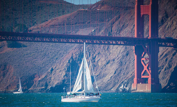 San Francisco Poster featuring the photograph Golden Gate Bridge by Jayasimha Nuggehalli