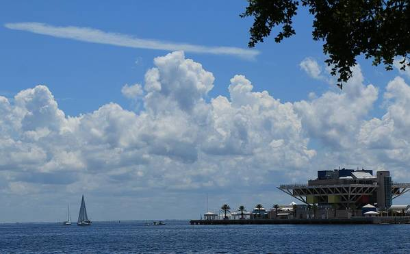 St Petersburg Pier Poster featuring the photograph A Beautiful Saturday Afternoon by Debbie Olavarria