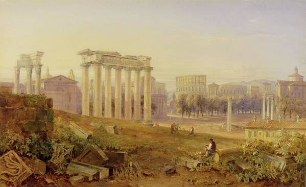 Xyc123199 Poster featuring the photograph Across The Forum - Rome by Hugh William Williams