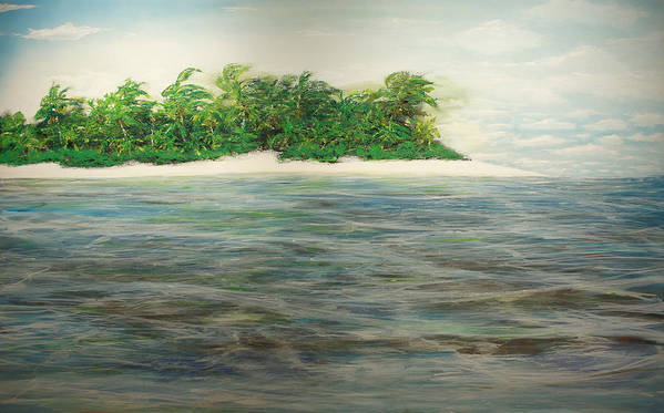 Palm Trees Poster featuring the painting An Island All To Myself 1 by Jorge Stark