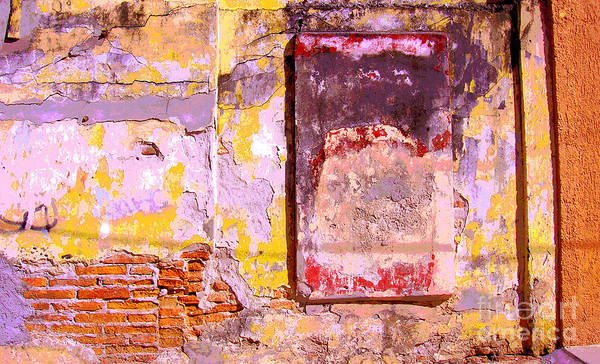 Michael Fitzpatrick Poster featuring the photograph Ancient Wall 7 By Michael Fitzpatrick by Mexicolors Art Photography