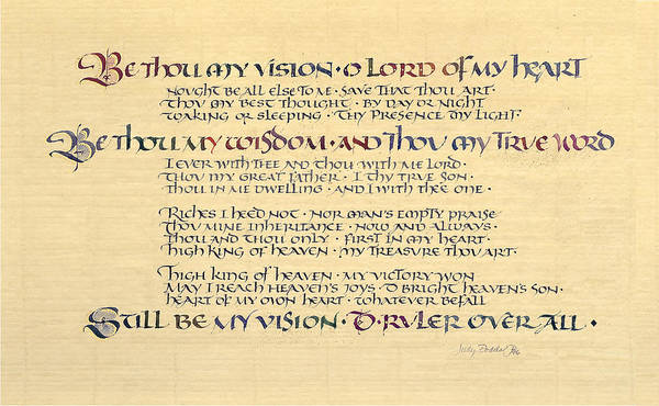 1912 Music Poster featuring the painting Be Thou My Vision by Judy Dodds