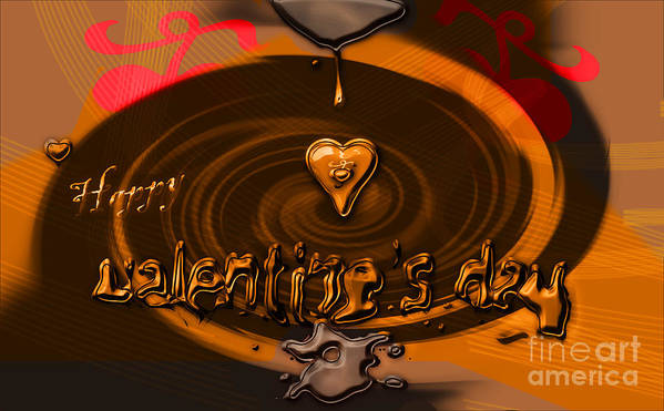 Valentine Poster featuring the photograph Chocolate Valentine by Nick Eagles
