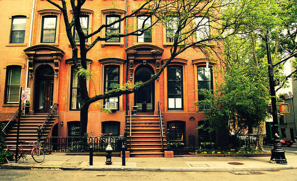 Beautiful Poster featuring the photograph Cobble Hill Brownstones - Brooklyn - New York City by Vivienne Gucwa