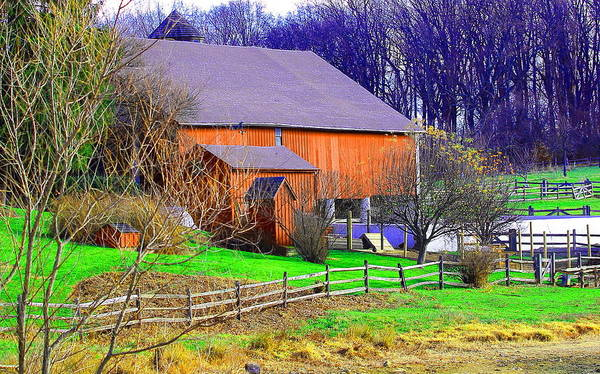 Landscape Poster featuring the photograph Country Barn by David Rosenthal