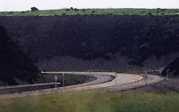 Landscape Poster featuring the photograph Dark Rock Cut Out Wc 2 by Lyle Crump