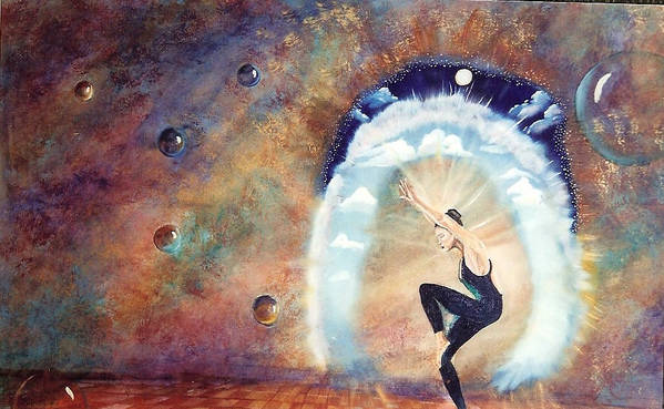 Surreal Poster featuring the painting Dream Dancer by Joan Gossett