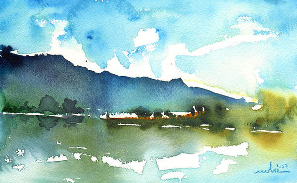 Watercolour Landscape Poster featuring the painting Early Afternoon 14 by Miki De Goodaboom