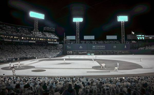 Ballpark Poster featuring the photograph Fenway Infrared by James Walsh