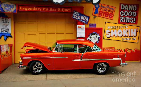Car Poster featuring the photograph Hot Rod Bbq by Perry Webster
