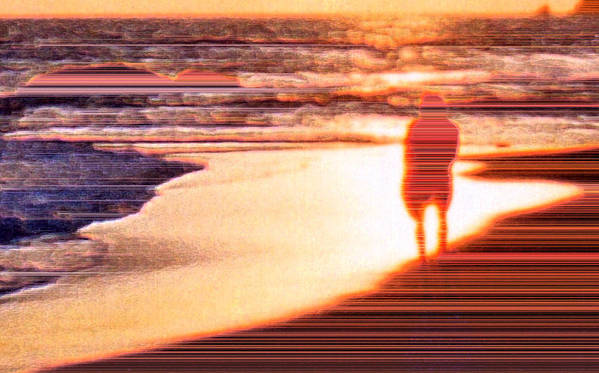 Landscape Poster featuring the photograph Into The Sunset 6 by Lyle Crump