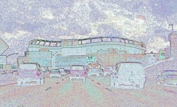 Abstract Poster featuring the photograph Invesco Field by Lenore Senior