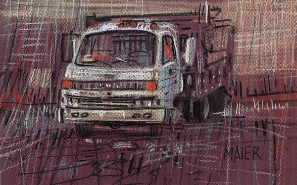 Isuzo Poster featuring the drawing Isuzo Truck by Donald Maier
